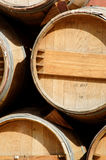 Wine barrels on display Royalty Free Stock Image