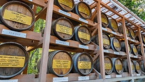 Wine Barrels at Meiji jingu Shrine in Tokyo Royalty Free Stock Photos