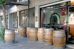 The wine barrels  in Nicosia, Cyprus. Stock Image