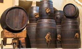 Wine barrels. Royalty Free Stock Image