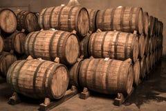Wine barrels Stock Images