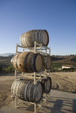 Wine Barrels On Stand Stock Photography