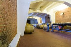 Wine barrels. From a wine company in Romania royalty free stock photography