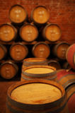 Wine barrels in wine-vaults Royalty Free Stock Images