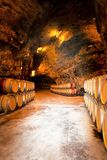Wine barrels in a winery, France. Wine barrels in a winery, south France Stock Photos