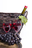 Wine Basket Royalty Free Stock Image