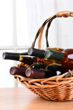 Wine Basket Still Life Royalty Free Stock Images