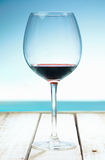 Wine at the beach Royalty Free Stock Images