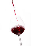 Wine beeing poured into a glass Royalty Free Stock Photo