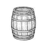 Wine or beer barrel. On white background. Vector illustration Royalty Free Stock Photo