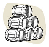 Wine or beer barrels Stock Photography