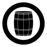 Wine or beer barrels black icon in circle vector illustration isolated . Wine or beer barrels black icon in circle vector illustration isolated flat style vector illustration