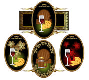 Wine beer brendy cognac grape Stock Photos