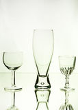 Wine and beer glasses Royalty Free Stock Photography