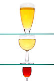 Wine, beer and spirit Royalty Free Stock Photos