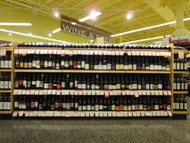 Wine and beer. Store displaying different brands of beverages Stock Images