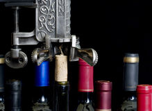 Wine being Uncorked - horizontal Royalty Free Stock Photos