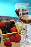 Wine and berry Royalty Free Stock Images