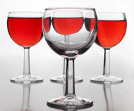Wine in big glasses Royalty Free Stock Image