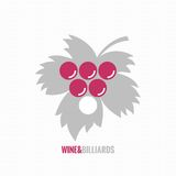 Wine and billiards concept design background Royalty Free Stock Images