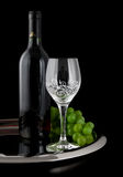 Wine in black Stock Photography