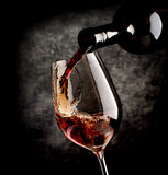Wine on black background Royalty Free Stock Photos