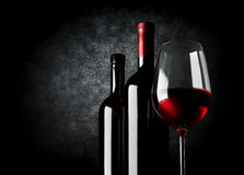 Wine on black background Stock Photography