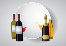Wine blank area Stock Images