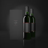 Wine and booklet Royalty Free Stock Photos