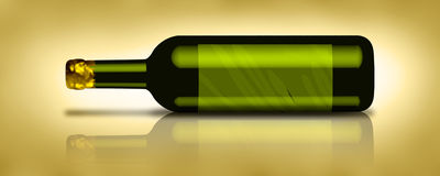 Wine Bottle 1. Wine Bottle made with the help of 2 software Adobe Illustrator and Adobe Photoshop Stock Images