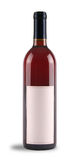 Wine Bottle. Red wine bottle with blank label Stock Images
