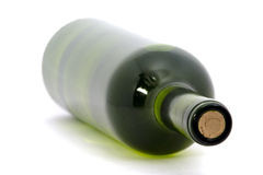 Wine Bottle. Isolated over white background. shallow depth of focus Royalty Free Stock Photography