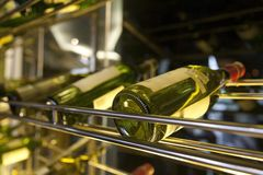 Wine Bottle. Photograph of a wine bottle with shallow depth of field Stock Image