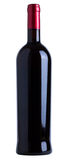 Wine bottle. Red wine bottle unlabeled isolated over white background Stock Images