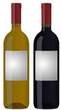Wine bottle. Illustration of two wine bottle with blank label royalty free illustration