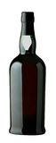 Wine bottle. Isolated red wine bottle on white background Stock Photography