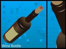 Wine bottle. On white background Royalty Free Stock Photography