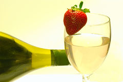 Wine and bottle Royalty Free Stock Images