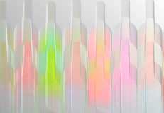Wine bottle abstract. Abstract design of a row of wine bottles Royalty Free Stock Photography