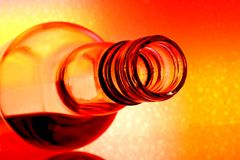Wine Bottle  Abstract Stock Images