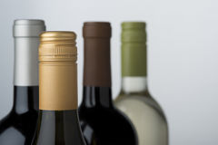 Wine bottle assortment Royalty Free Stock Photo