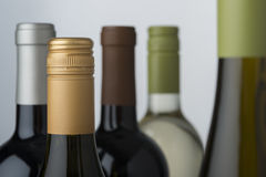 Wine bottle assortment Stock Photography