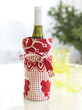 Wine bottle in a bag Stock Image