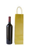 Wine Bottle and Bag Stock Photo