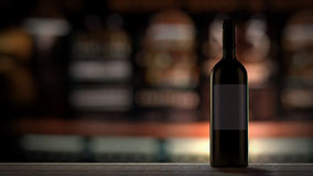 Wine Bottle in bar Stock Images