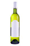 Wine bottle with blank label Royalty Free Stock Images