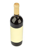Wine bottle with blank label Royalty Free Stock Photography