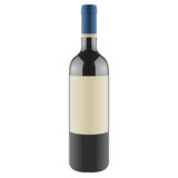 Wine bottle with a blank label, vector Royalty Free Stock Photos