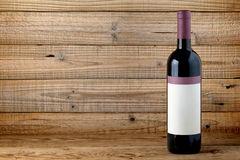 Wine bottle with blank label Stock Photography