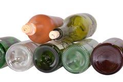 Wine bottle bottoms isolated on white Royalty Free Stock Image